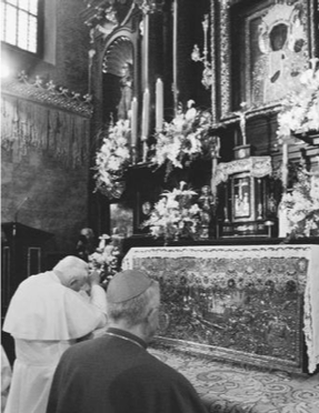 black madonna pope john paul